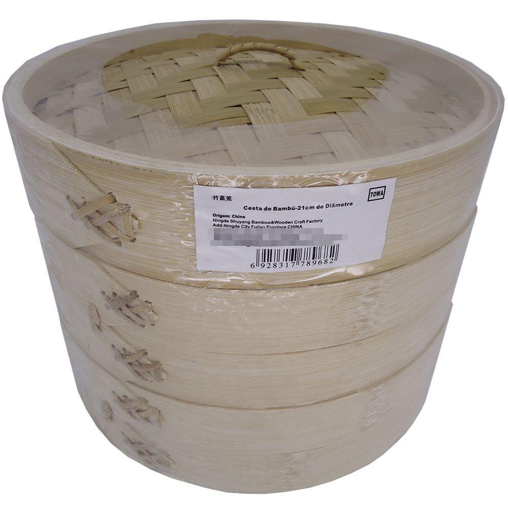 Panela de Bambú para Cozimento à Vapor Diam. 20cm