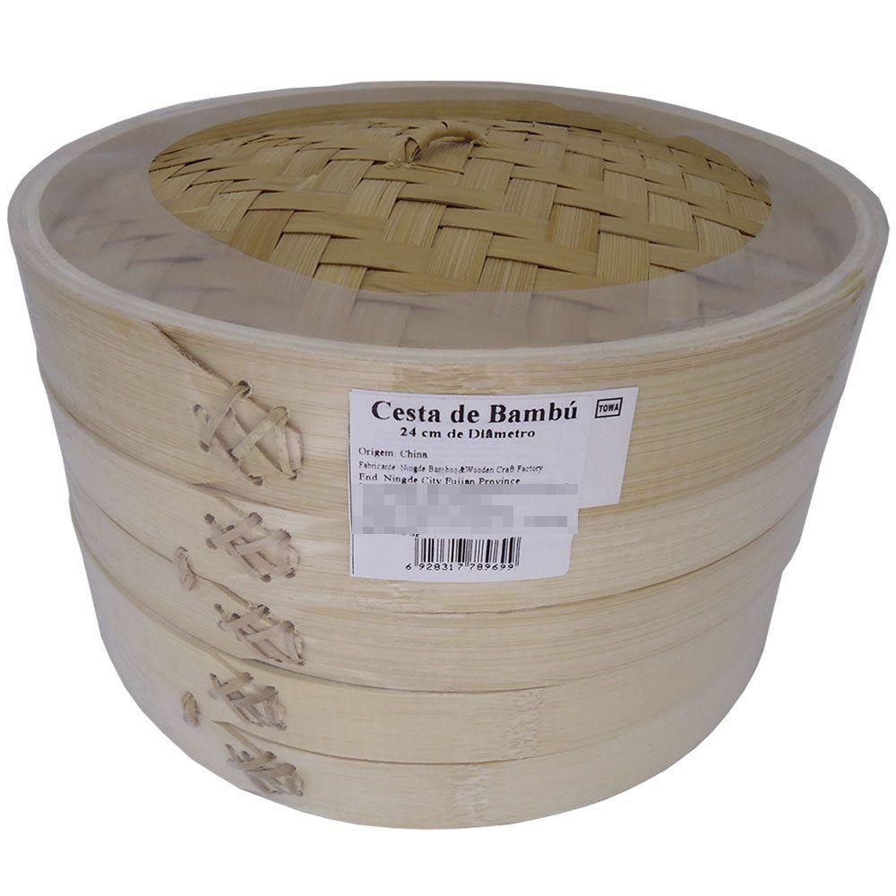 Panela de Bambú para Cozimento à Vapor Diam. 24cm