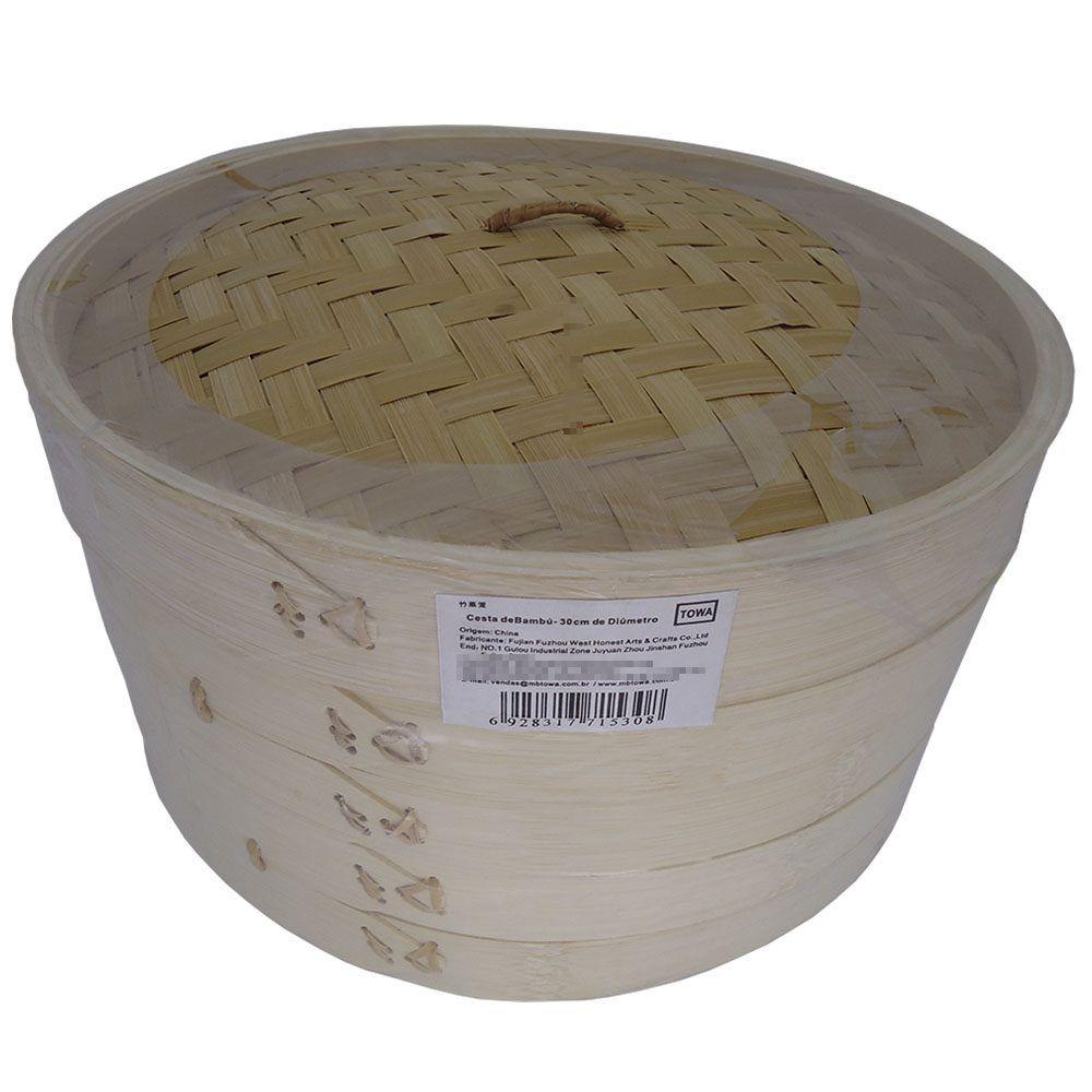 Panela de Bambú para Cozimento à Vapor Diam. 30cm