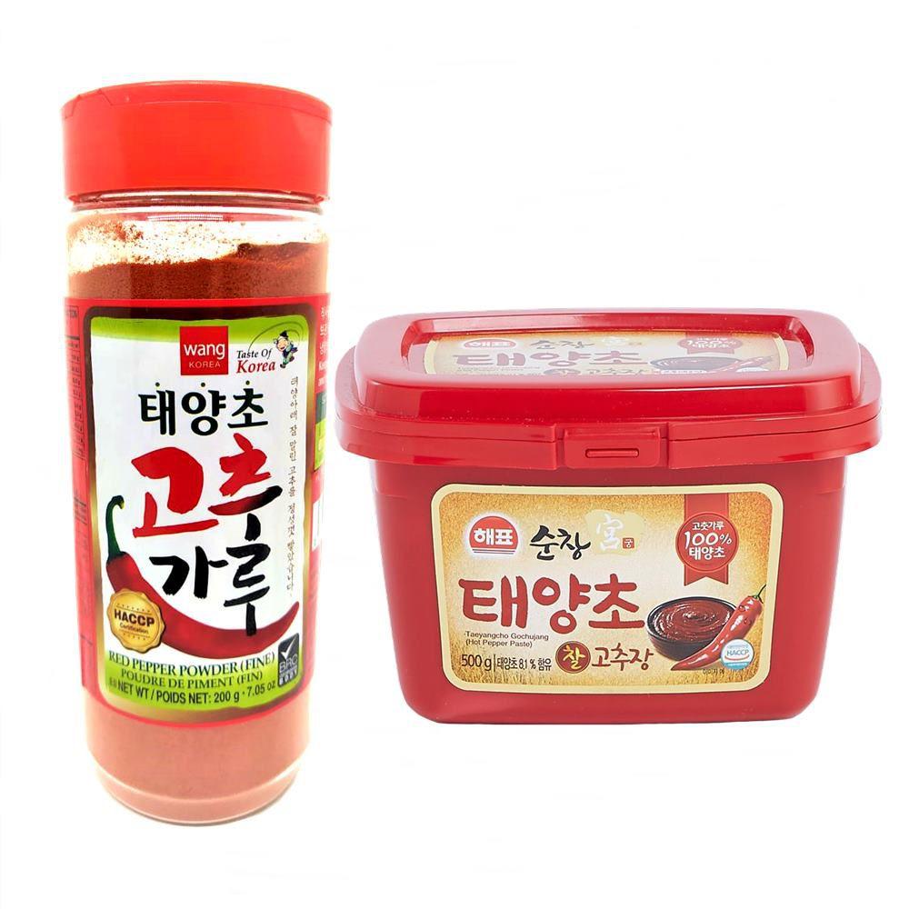 Pimenta em Pó para Kimchi 200g + Pimenta Gochujang 500g