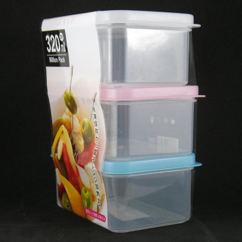 Pote Plástico com 3pc x 320ml Mod. T  YA-548