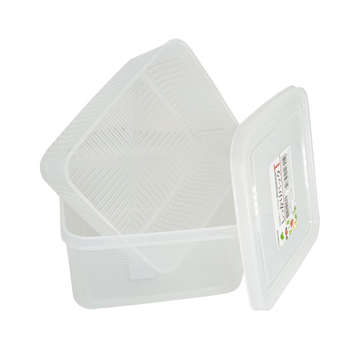 Pote Plástico com Escorredor p/ Queijo Mod. T  K-230 1,1L