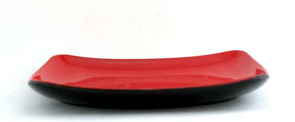 Prato de Melamina Quadrado com 22cm