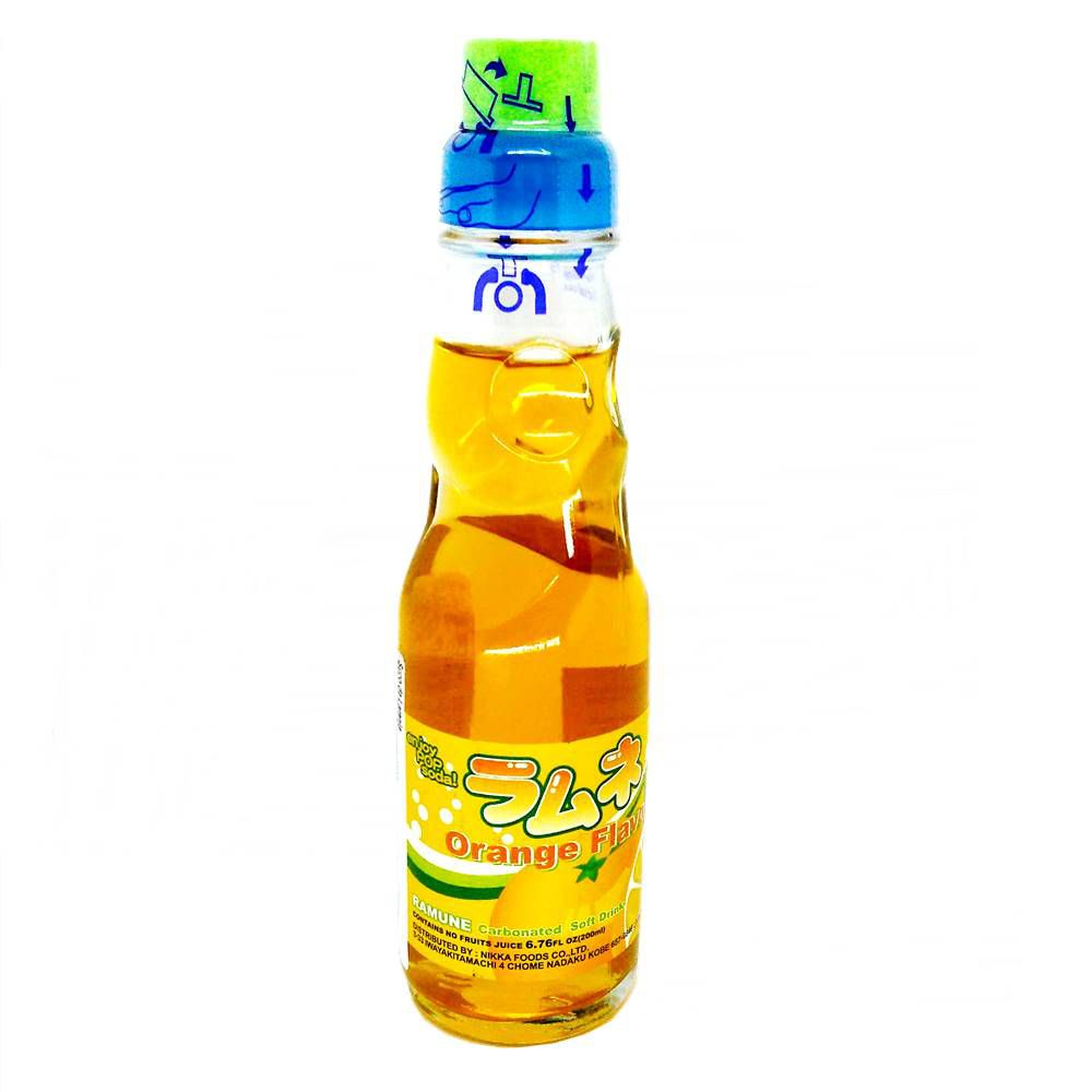 Refrigerante Japonês Ramune 200ml - Orange