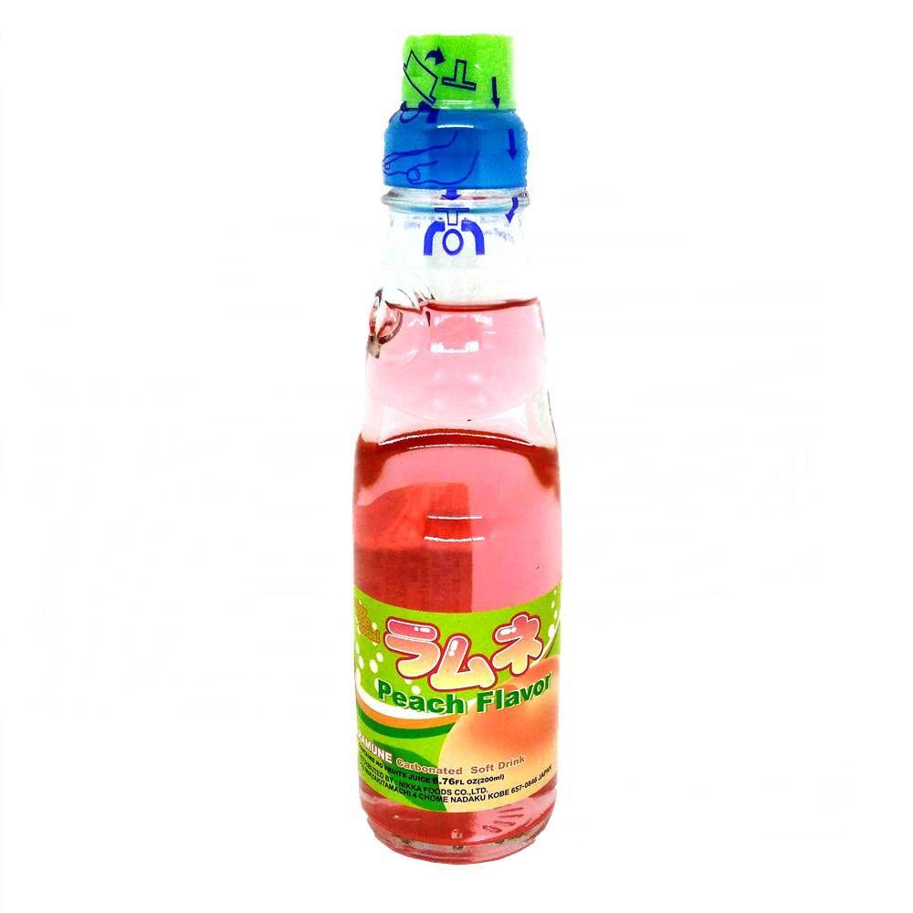 Refrigerante Japonês Ramune 200ml - Peach