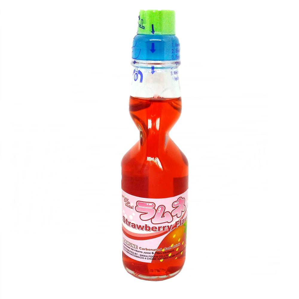 Refrigerante Japonês Ramune 200ml - Strawberry