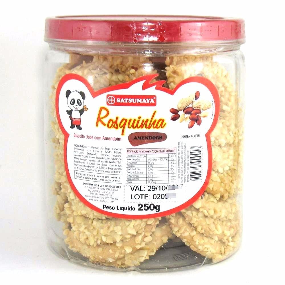 Rosquinha de Amendoim em Pote 250g - Satsumaya
