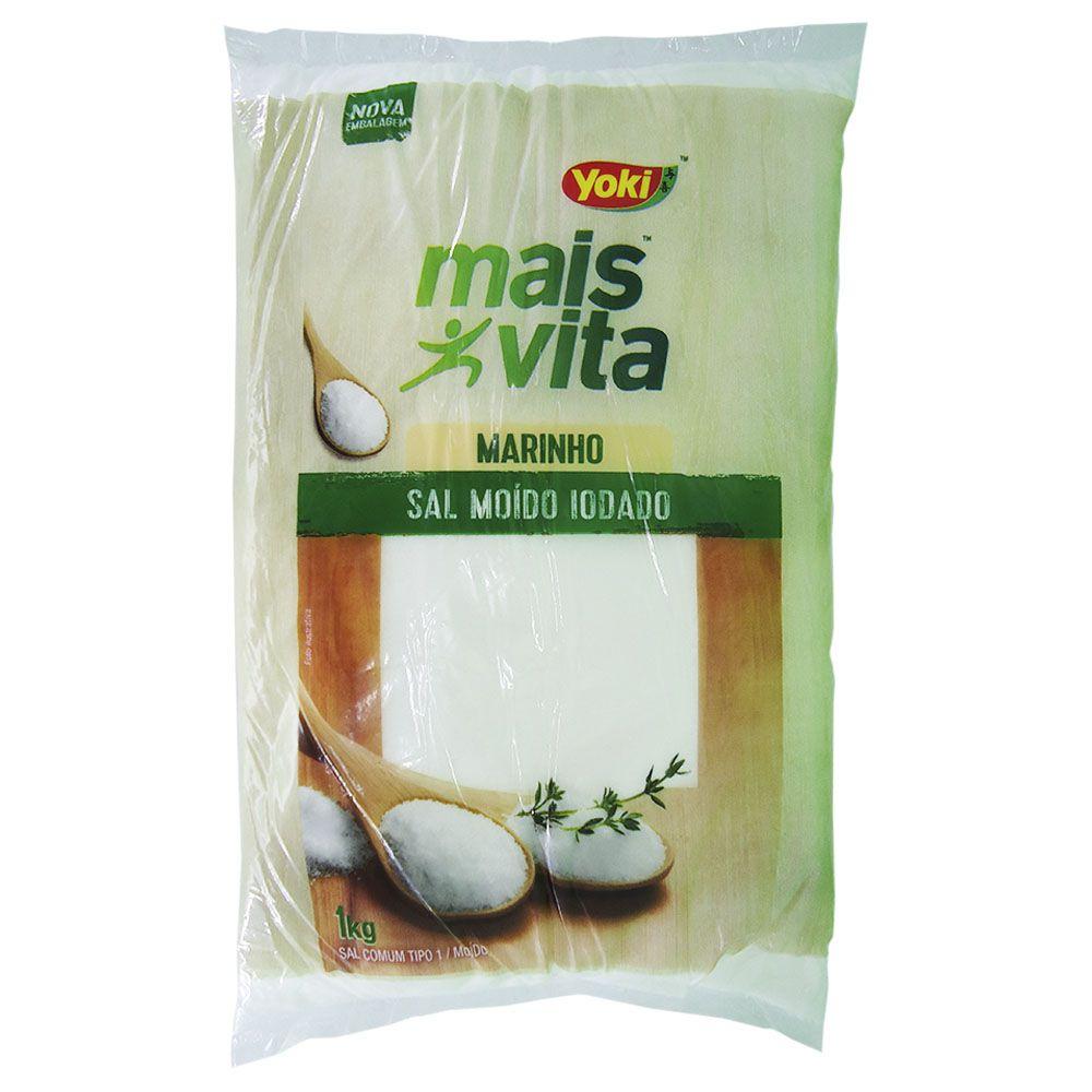 Sal Moído Iodado Marinho Yoki Mais Vita 1kg