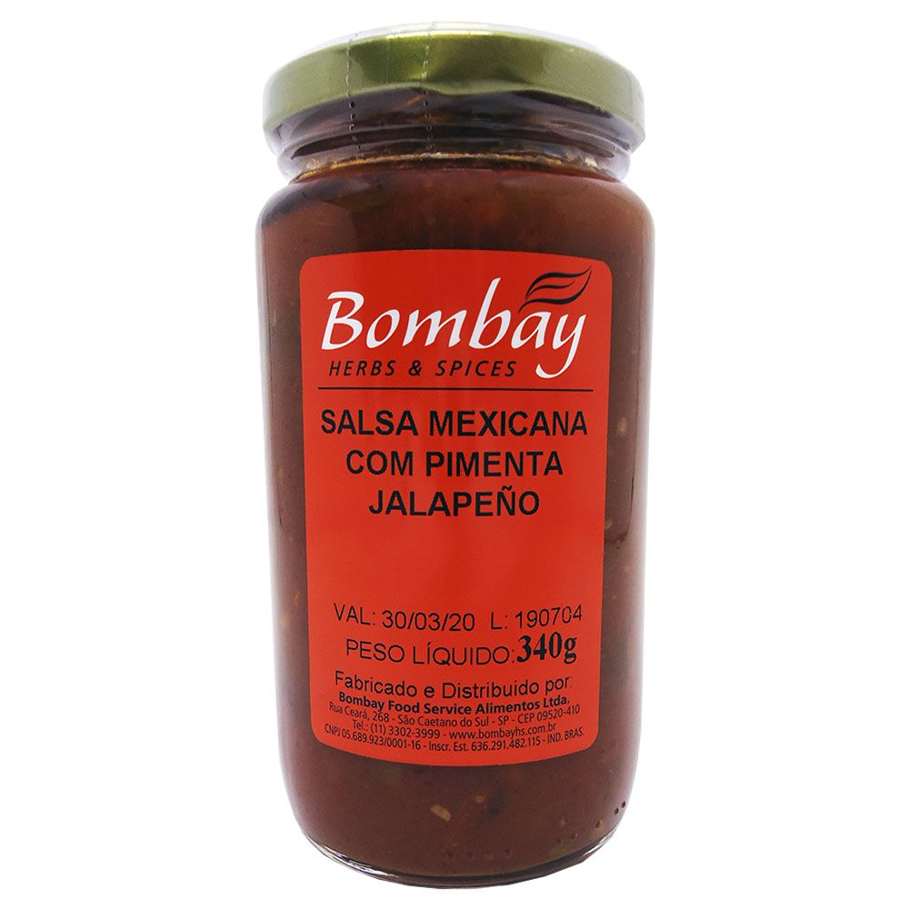 Salsa Mexicana com Pimenta Jalapeño 340g Bombay