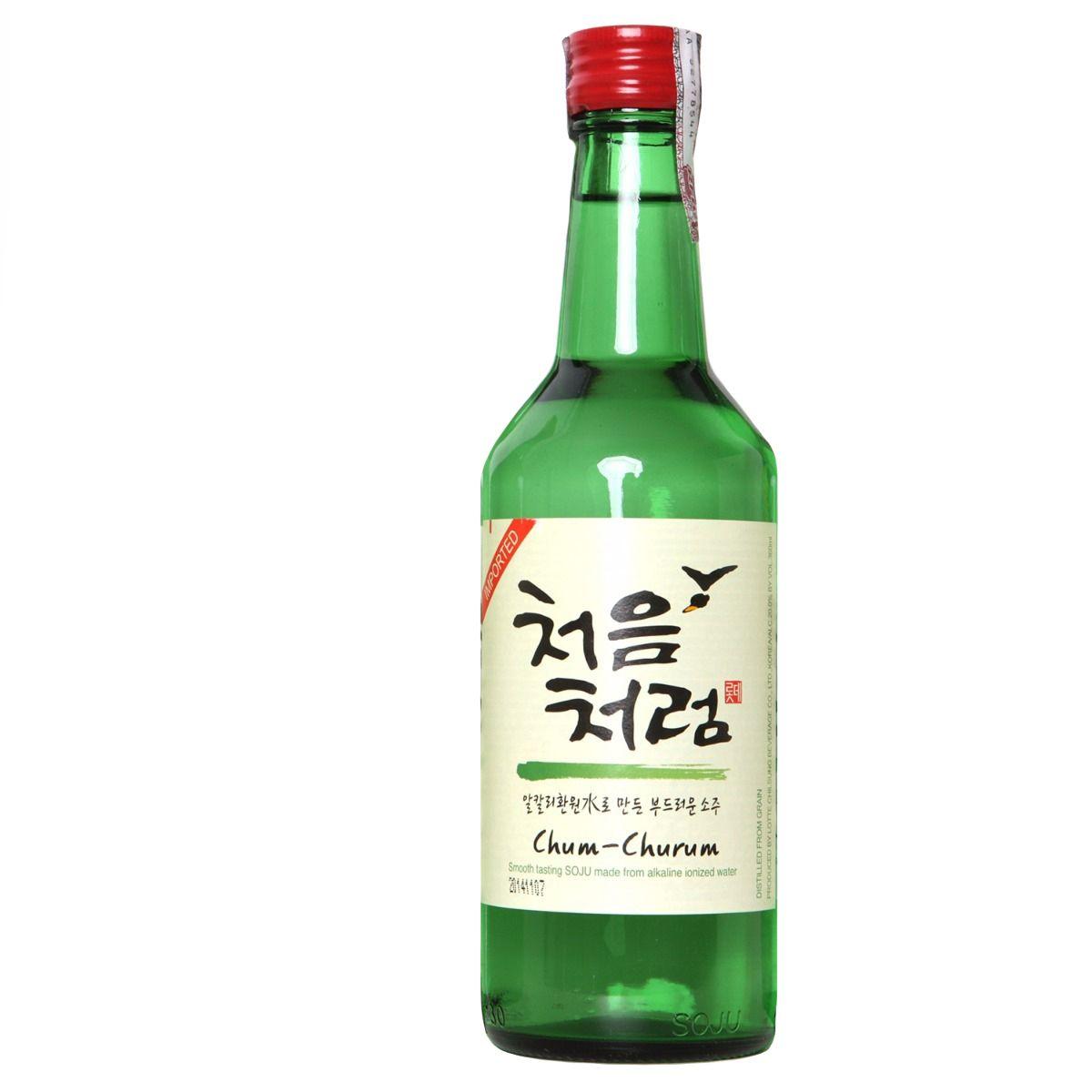 Bebida Coreana Soju Rich Importado Drink 19%  360ml Chum Churum