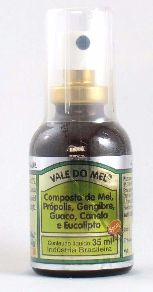 Spray para Garganta Mel Propolis e Gengibre Guaco Canela e Eucalipto 35ml - Vale do Mel