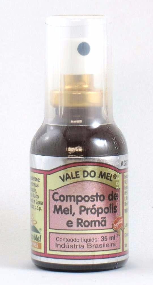 Spray para Garganta Mel Propolis e Romã 35ml - Vale do Mel