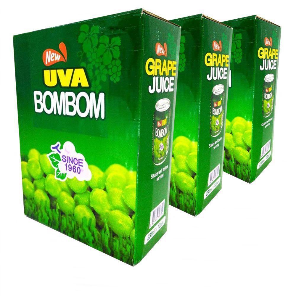 Suco BOMBOM Com Uva Verde Inteira - 03 Caixas 36 Unidades