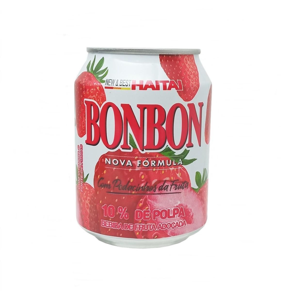 Suco Bonbon com Pedaços de Morango 235ml - Haitai