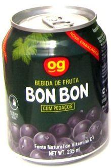 Suco Bonbon com Pedaços de Uva Roxa 235ml