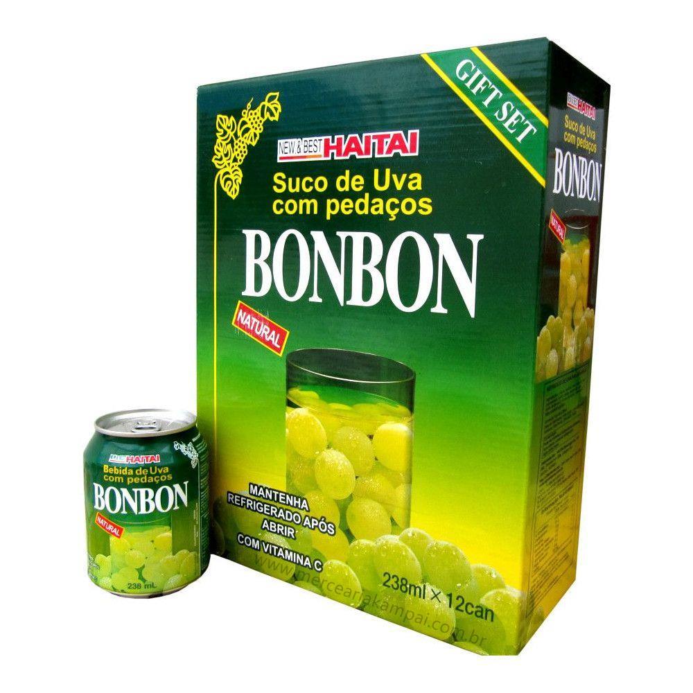 Suco Bonbon Com Uva Verde Inteira - 12 Unidades