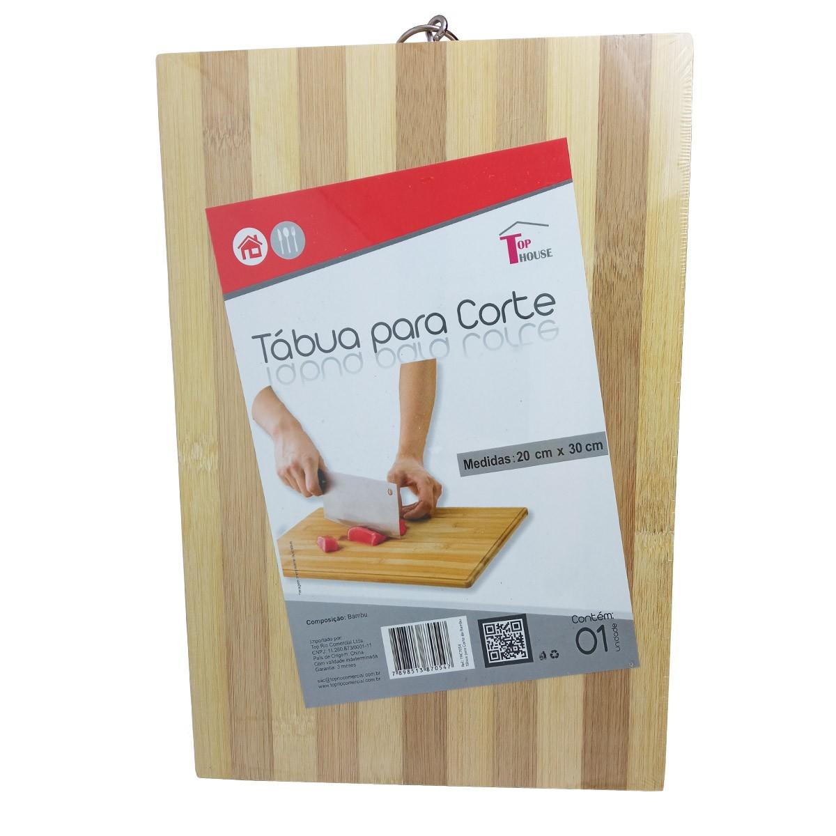 Tábua para Corte de Bambu 20x30cm - TopHouse