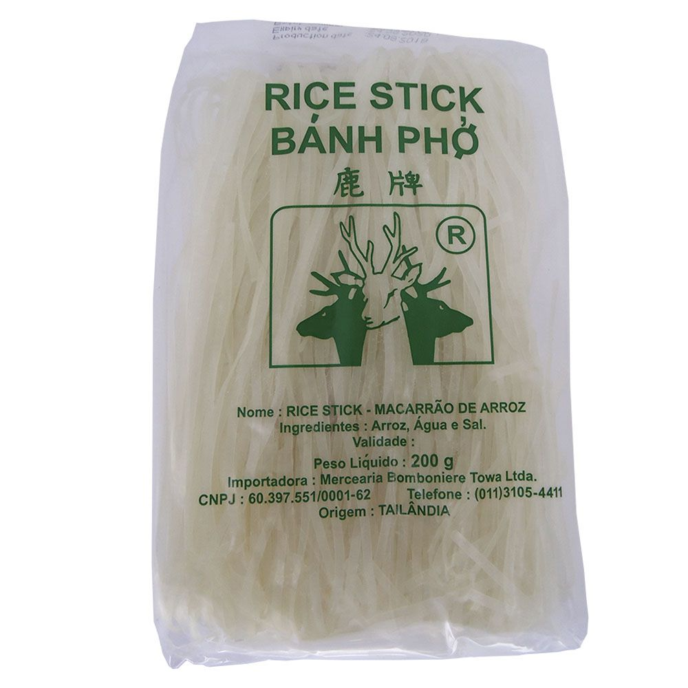 Talharim de Arroz Rice Stick 200g 5mm  - Sem Glúten