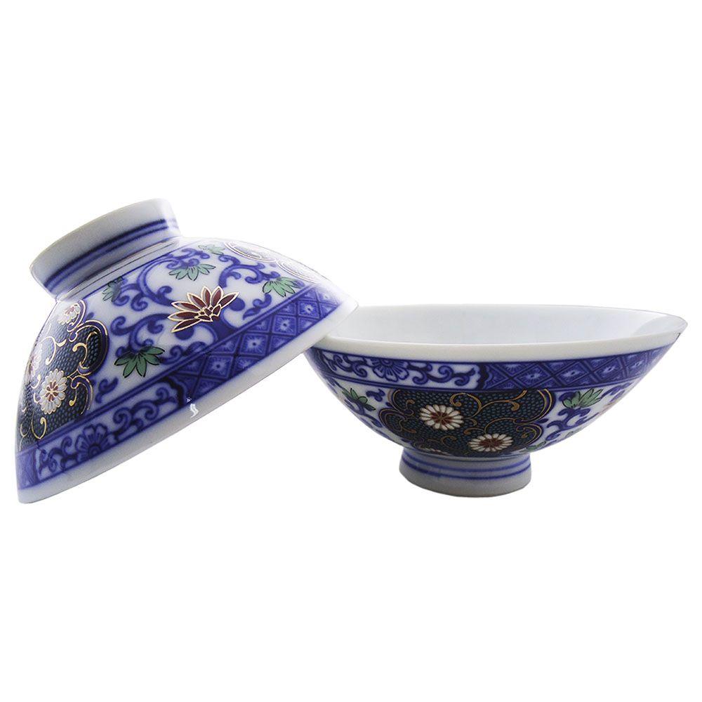 Tigelas de Porcelana Japonesa com Detalhe Dourado 2 Peças