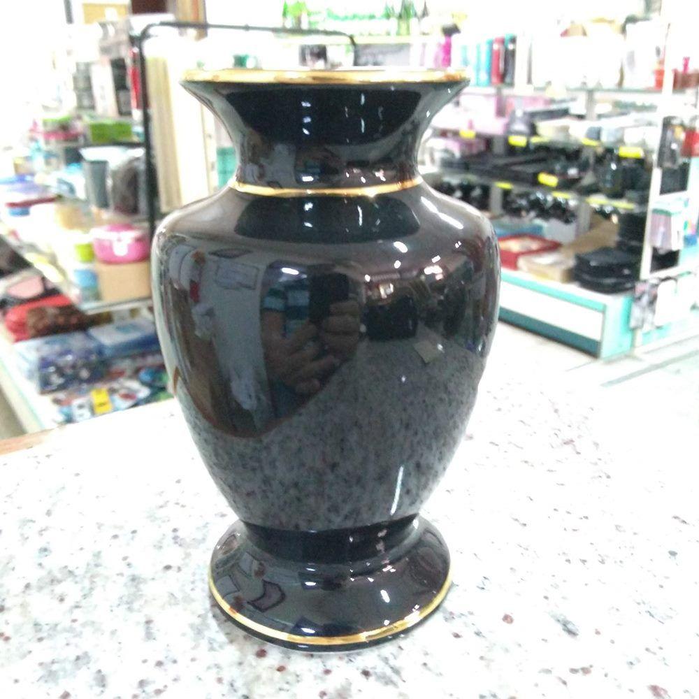 Vaso para Altar - Preto com Detalhe em Ouro PO-90P