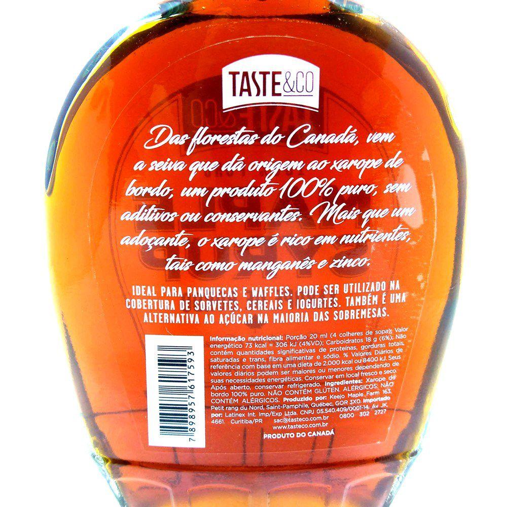 Xarope Maple Syrup 100% Puro 250ml - TASTE&CO