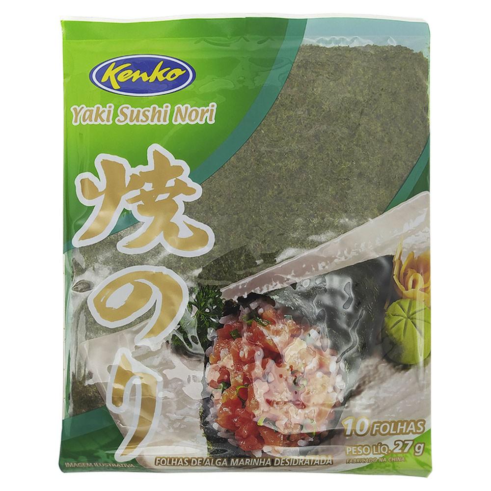 Alga Nori Yaki Sushi Nori 10 Folhas Kenko