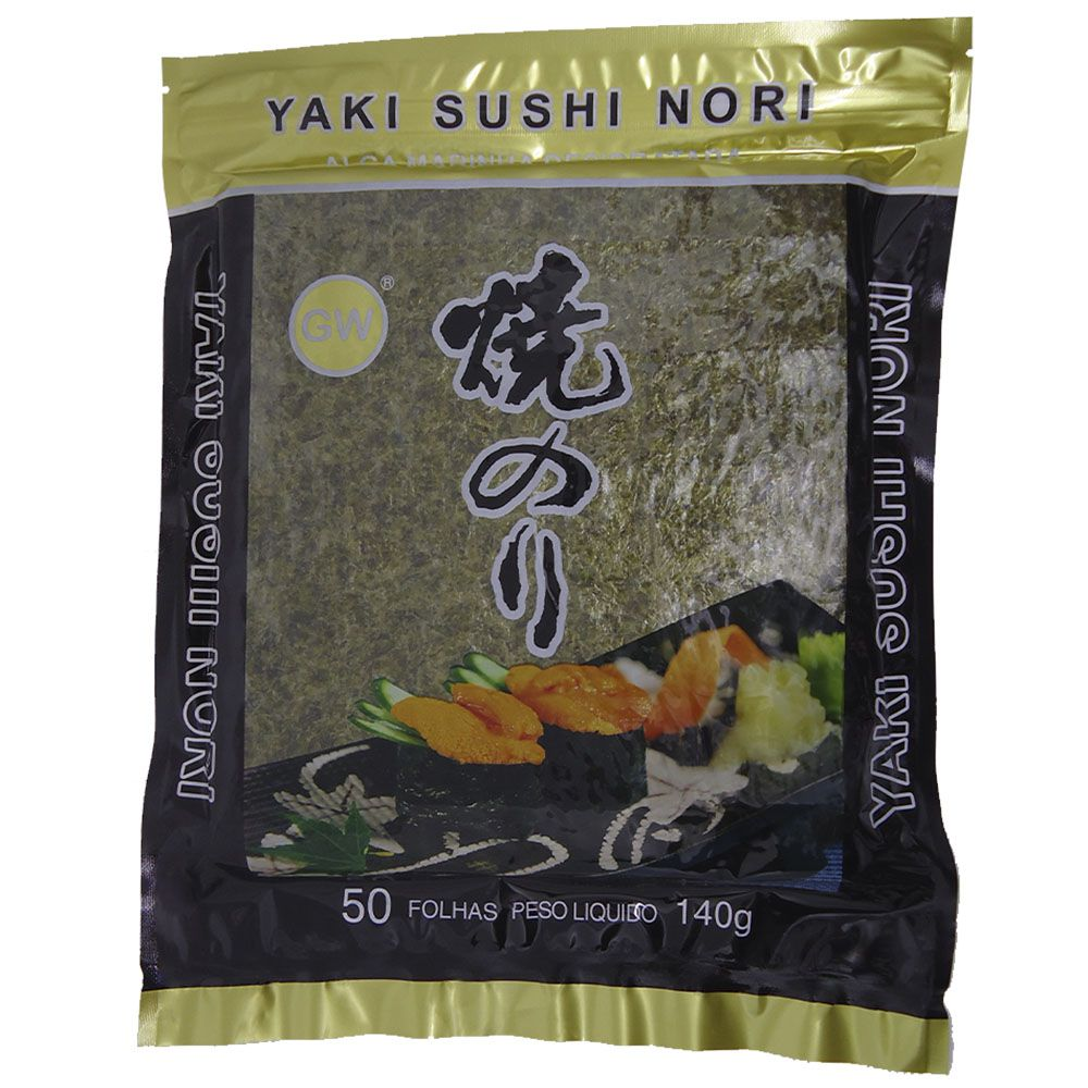 Alga Marinha Nori para Sushi GW Dourado 50fls 140g