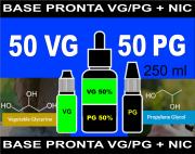 BASES PRONTAS 50% VG  50% PG  - 250 ml