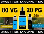 BASES PRONTAS 80% VG  20% PG  - 250 ml