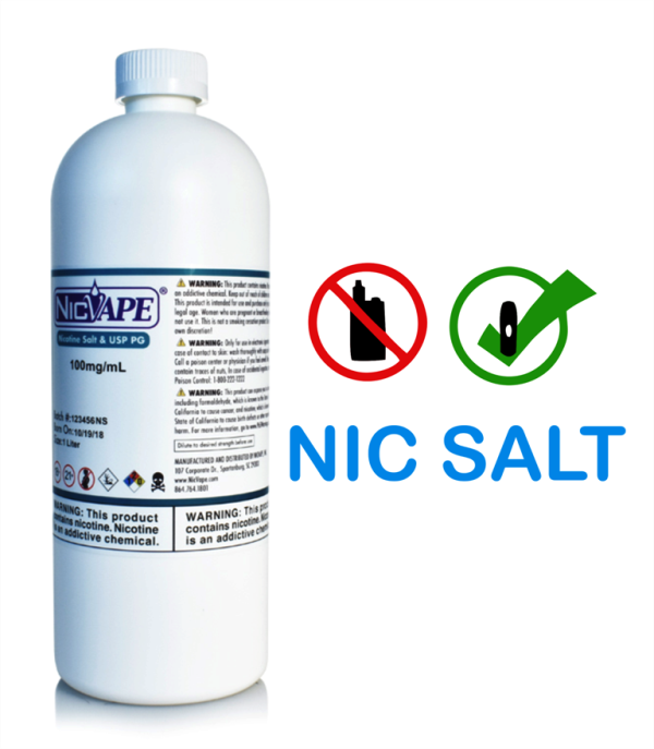 NIC SALT 100mg/ml - VG BASE  - NICVAPE      10 ml  - PLANETA VAPOR
