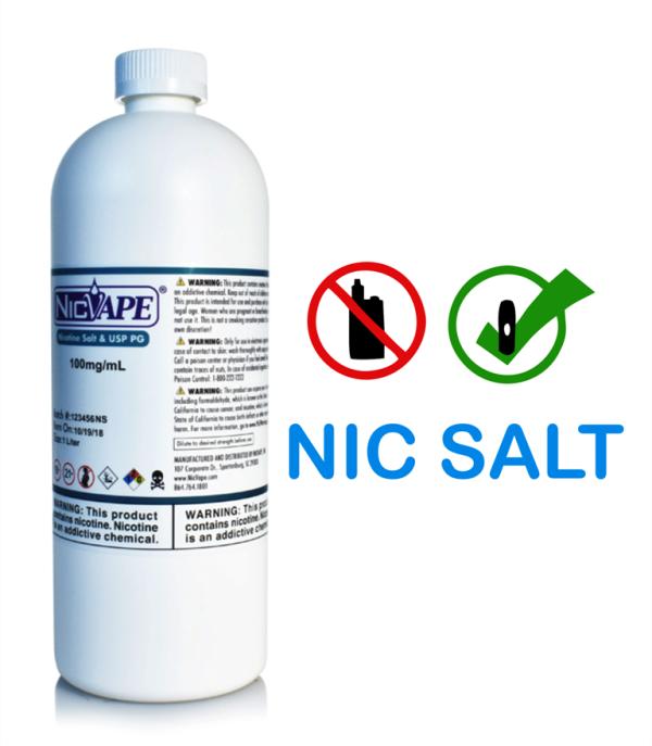 NIC SALT 250mg/ml - VG BASE  - NICVAPE      10 ml  - PLANETA VAPOR