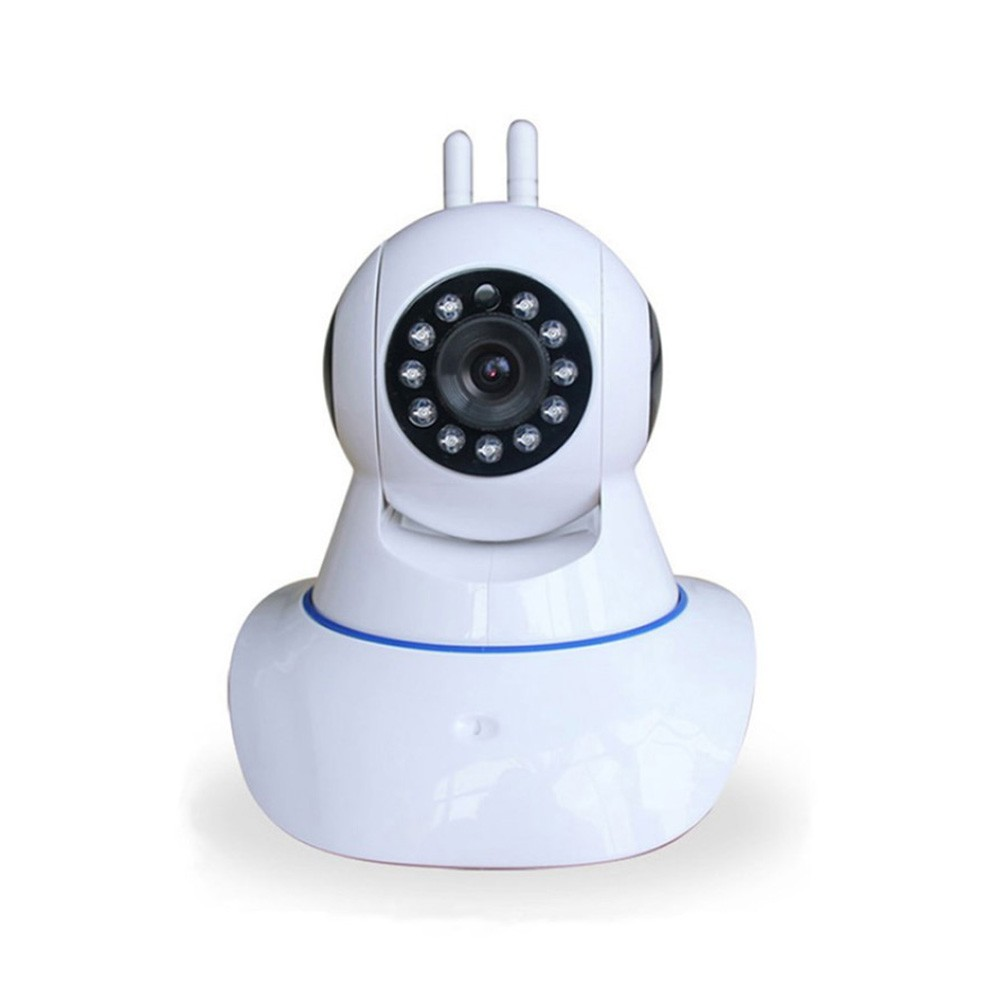 Camera IP Wireless 2 Antenas HD 720p P2P Onvif - Branca