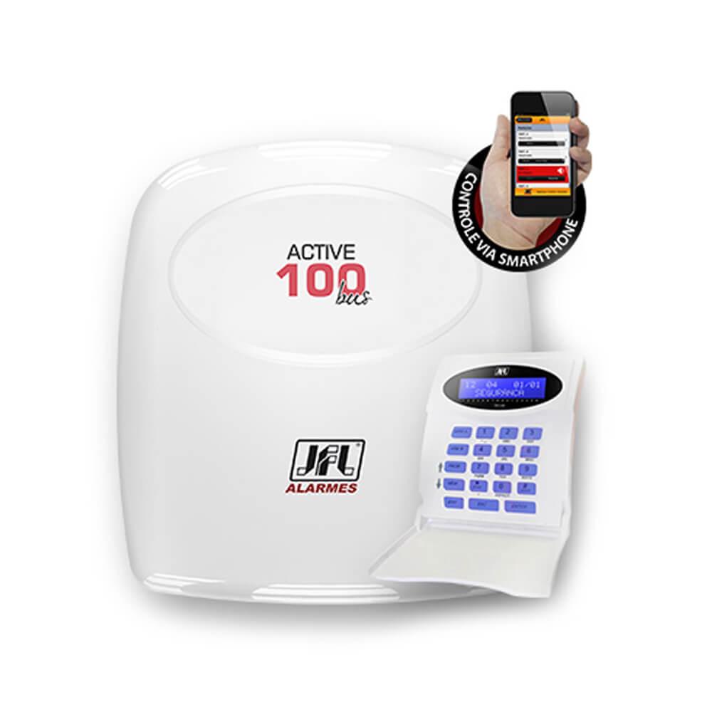 Central de Alarme Monitorada JFL Active-100 BUS (modular) s/ Teclado