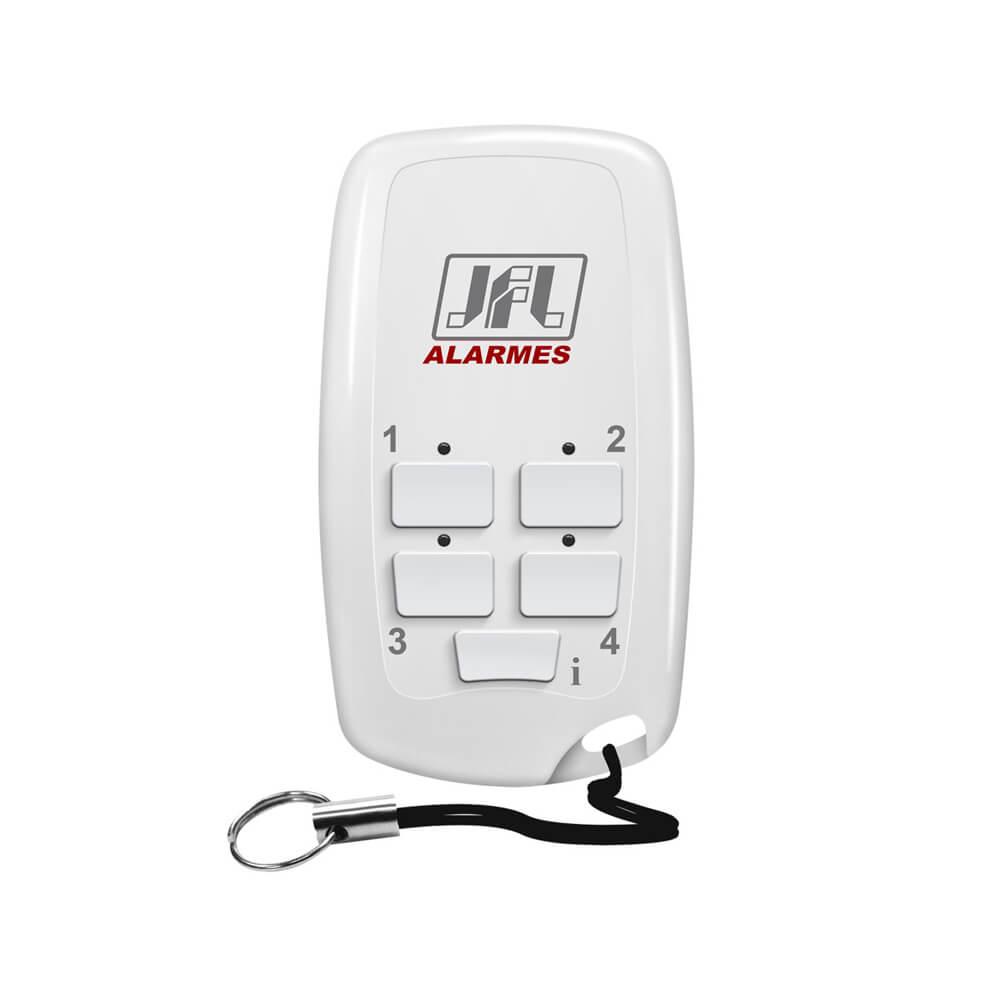 Controle remoto JFL TX-5 DUO FIT para linha DUO com frequência de 868MHz e alcance de até 100m c/ bateria inclusa