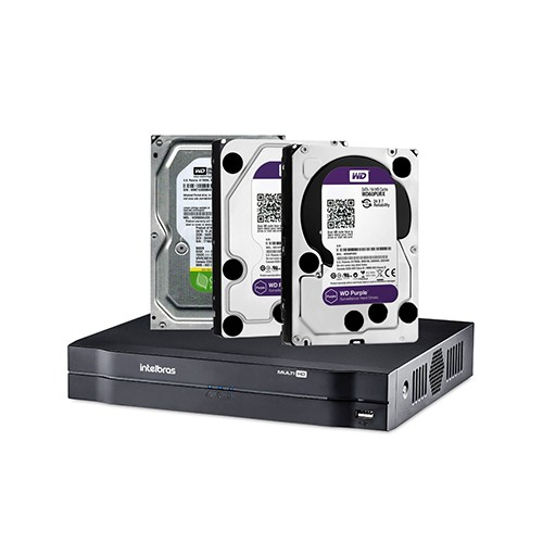 DVR Intelbras MHDX 1004 + Disco Rígido SATA Western Digital 7200 RPM