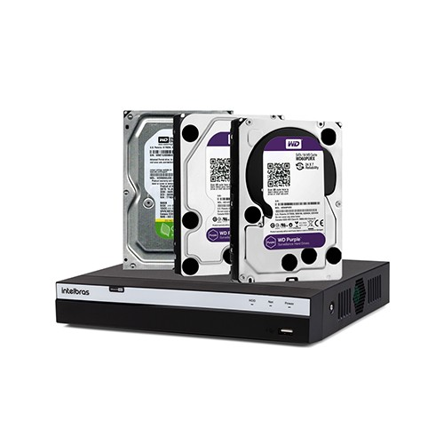 DVR Intelbras MHDX 3016 + Disco Rígido SATA Western Digital 7200 RPM