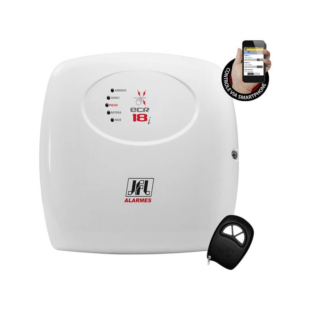 Eletrificador JFL ECR-18i para Cerca Elétrica com Controle Remoto e Controle Via Aplicativo para Smartphone