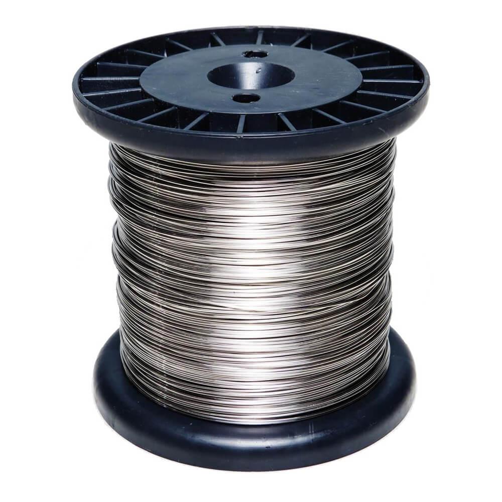 Fio De Aço Inox 0,45 mm para cerca elétrica Rolo 500 gramas