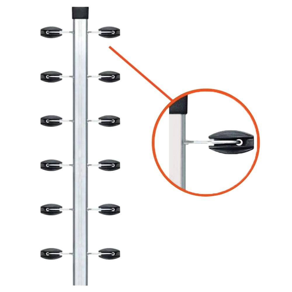 Haste Industrial para cerca elétrica 1 Metro C/ 12 Isoladores