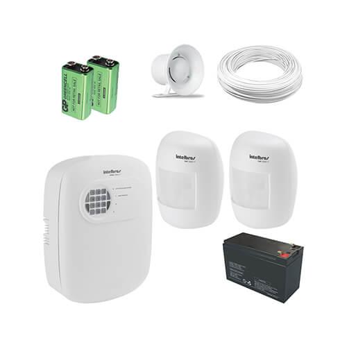 KIT Alarme Intelbras 2 Sensores + Acessórios - Grátis Bateria
