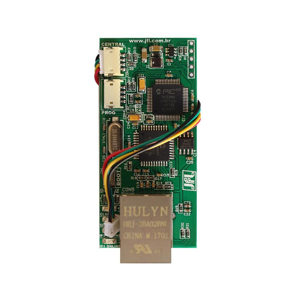 Módulo Ethernet JFL ME-04 MOB para comunicação via internet com Suporte a Aplicativo Celular