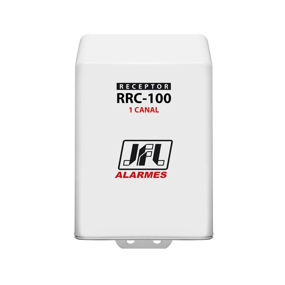 Receptor Programável JFL RRC 100 1 Canal (Abertura e Fechamento) com alcance de até 100m sem obstáculos 433mhz