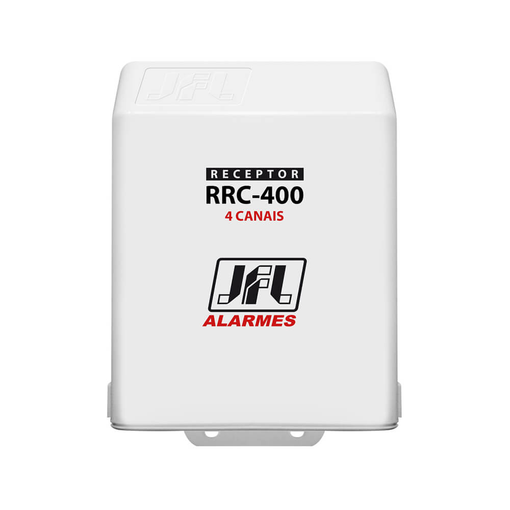 Receptor Programável JFL RRC 400 4 Canal (Abertura e Fechamento) com alcance de até 100m sem obstáculos 433mhz
