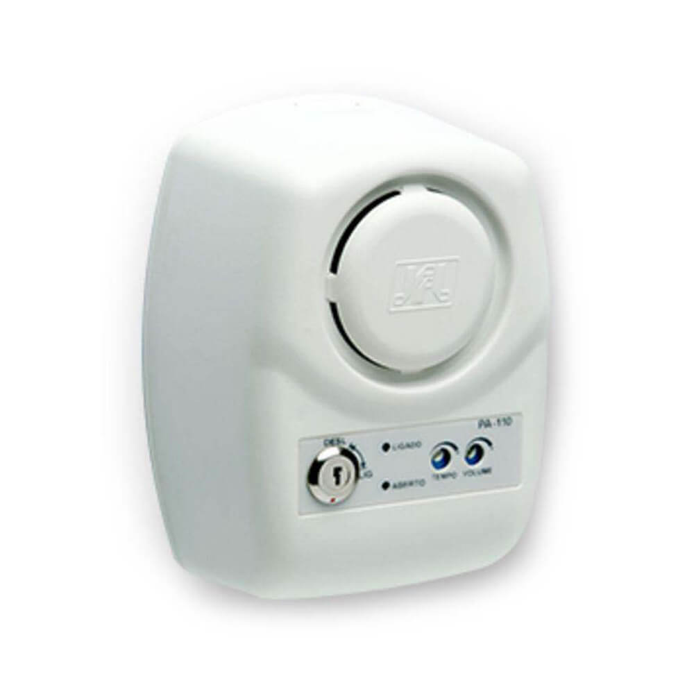 Sensor de Alarme JFL PA-110 Porta Aberta c/ sirene acoplada controle de tempo de abertura e aviso sonoro