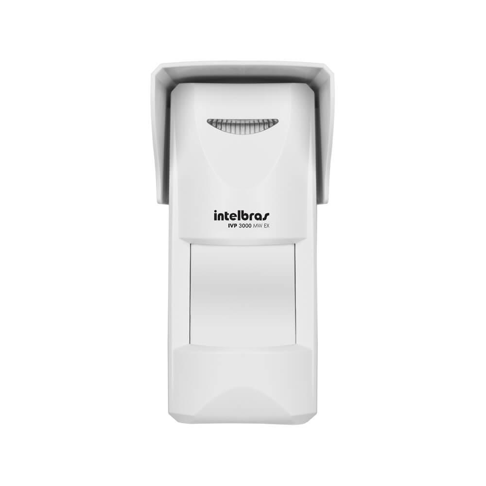 Sensor Intelbras IVP 3000 MW EX micro-ondas passivo até 12mts uso interno/externo PET até 35Kg ângulo 110°