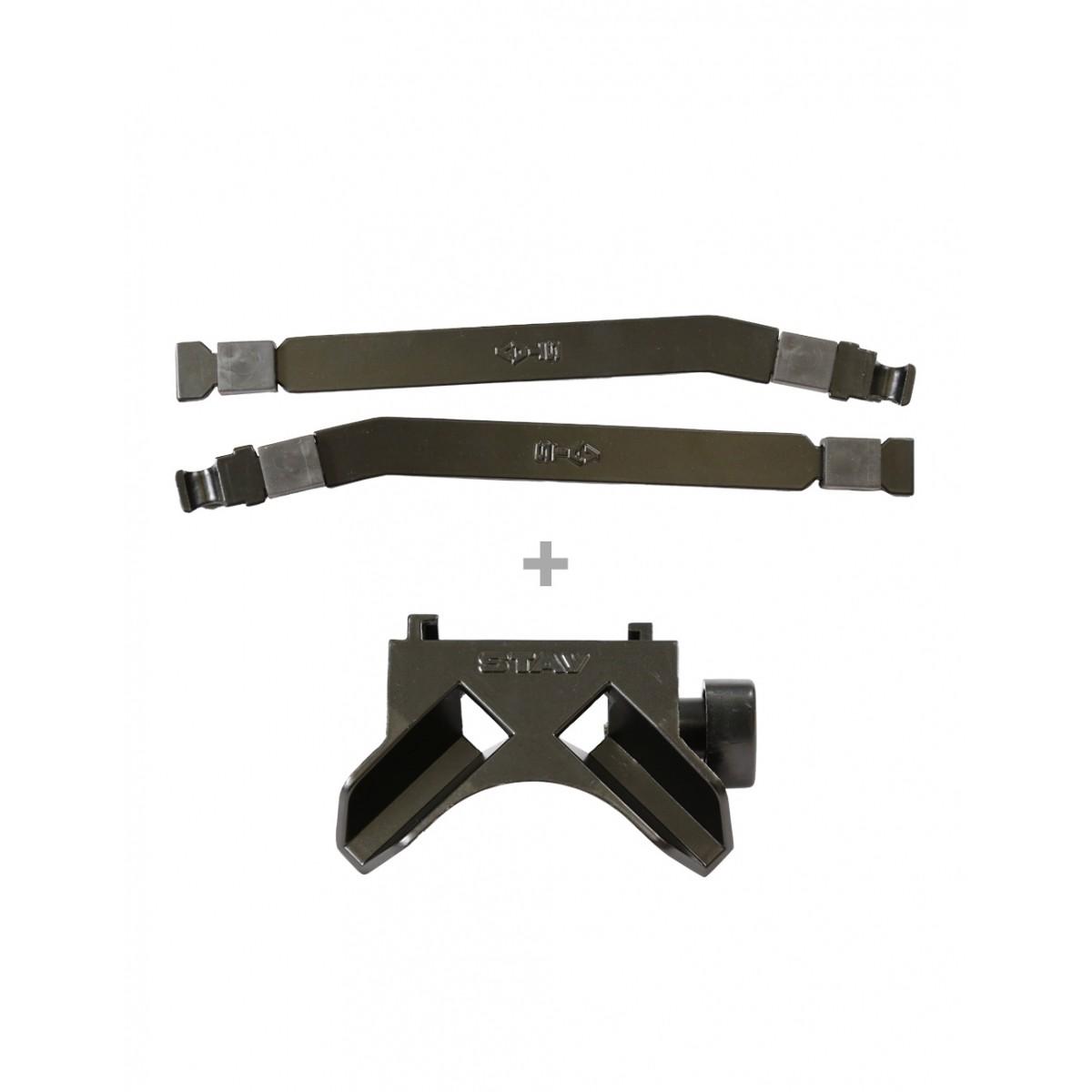 Kit Braços Curvos p/ Slim ou Compact (longarinas) 29cm + Base Reta Slim / Compact