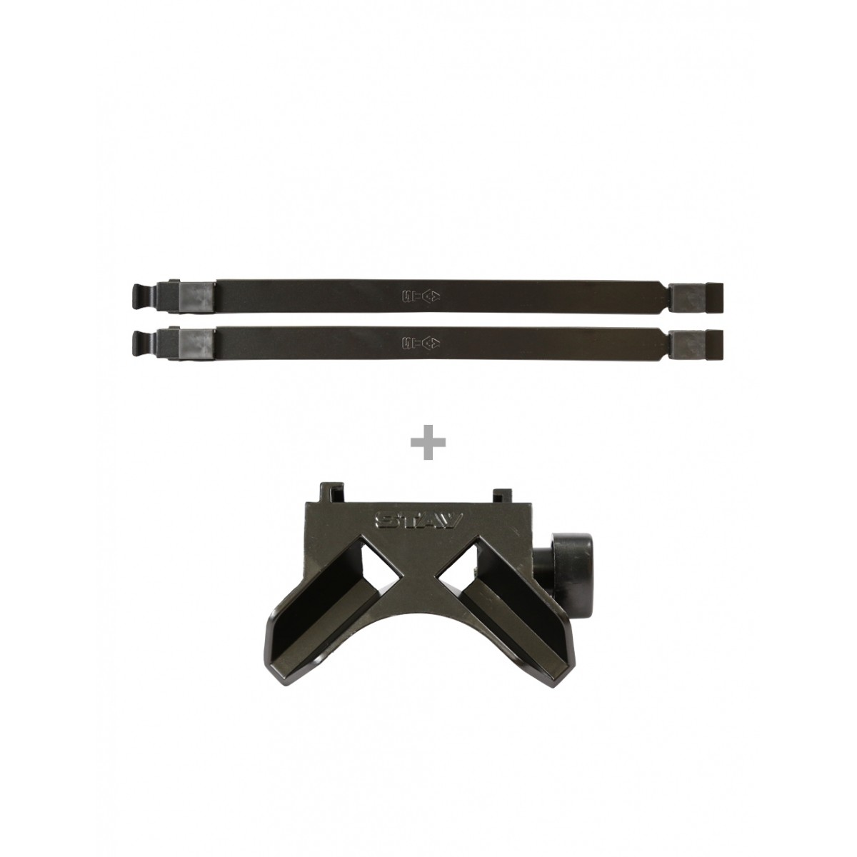 Kit - Braços p/ Slim ou Compact (longarinas) 38cm + Base Reta p/ Slim ou Compact