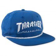 Boné Thrasher Magazine Snapback Logo Rope Blue