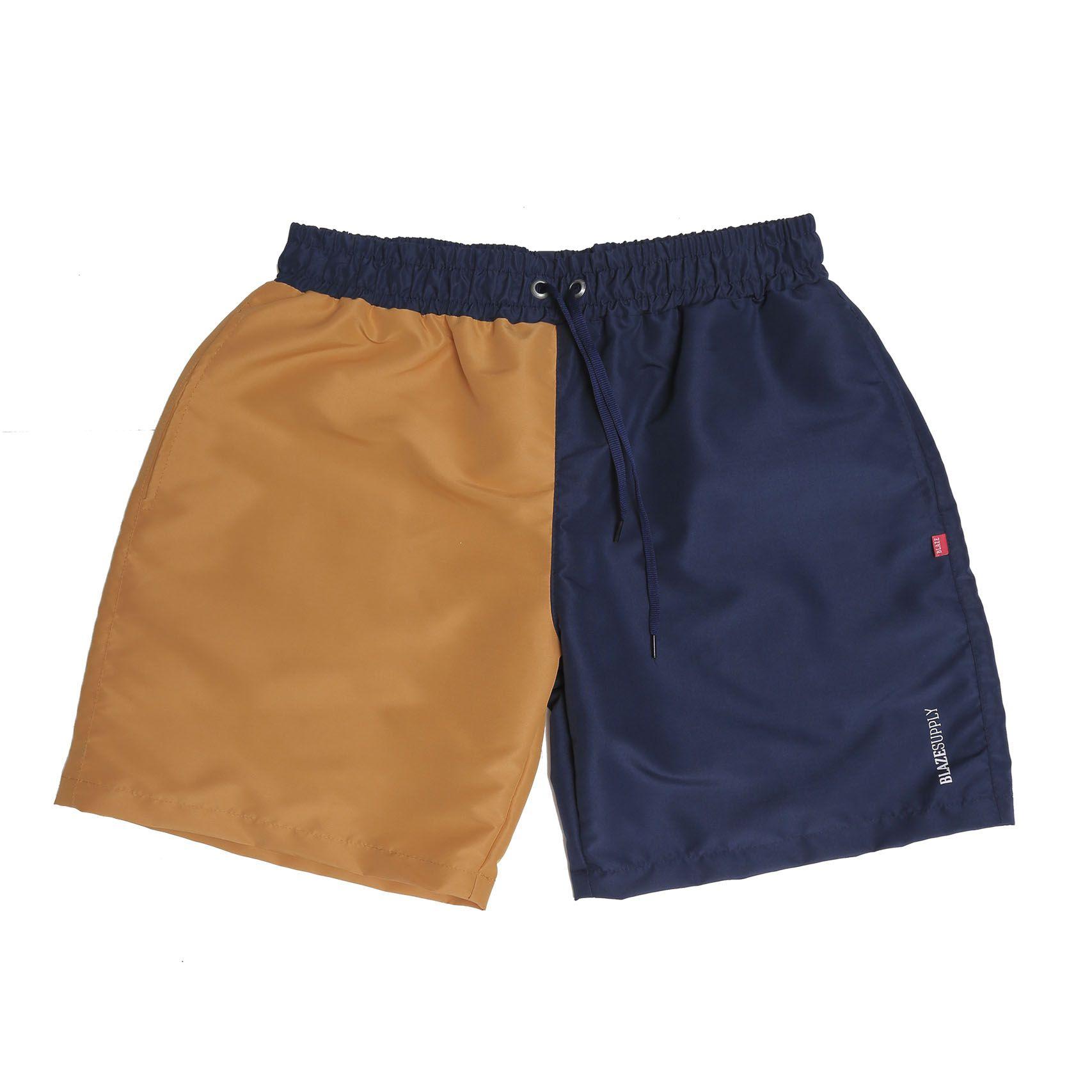 Bermuda Short Blaze Bi Color - Azul Marinho/Amarelo
