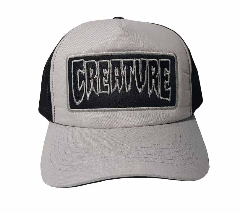 Boné Creature Trucker Logo Patch Cinza